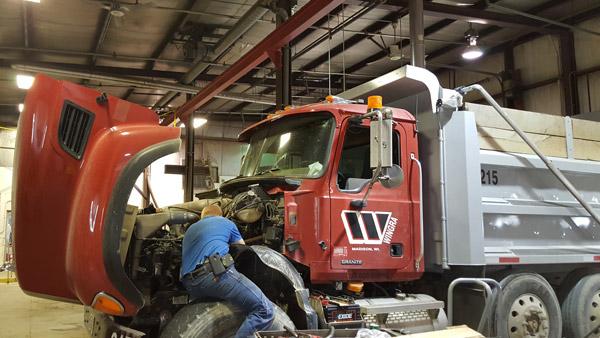 Mechanic stone truck