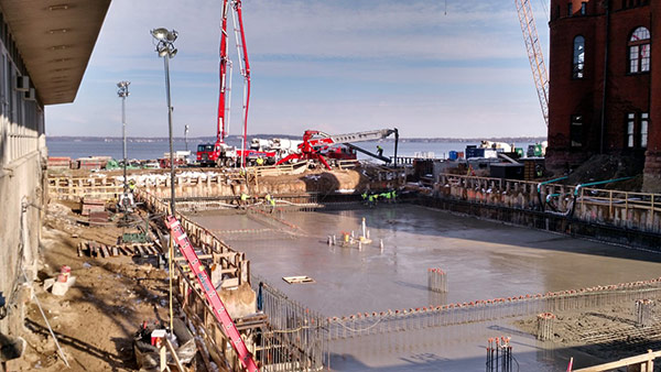 Memorial Union Mat Slab Pour